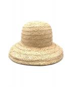 ()の古着「RAFFIA HAT」 ベージュ