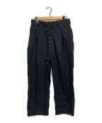 URU(ウル)の古着「1 TUCK PANTS」|ネイビー
