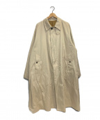 URU(ウル)の古着「COTTON CHINO TWILL BALMACAAN C」|ベージュ