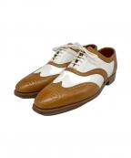 Crockett & Jones(クロケット&ジョーンズ)の古着「ドレスシューズ」 ブラウン×ホワイト