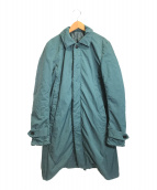 ()の古着「テクノヴィンテージツイルステンカラーコート」 グリーン