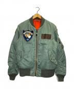 AVIREX(アヴィレックス)の古着「フライトジャケット」|カーキ