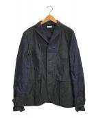 ()の古着「ウール切替デザインジャケット」 ネイビー