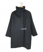 MaxMara(マックスマーラ)の古着「キャメルロッキングコート」 ネイビー