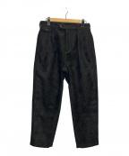 AiE(エーアイイー)の古着「フロッキープリントパンツ」 ブラック