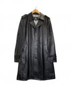 BURBERRY BLACK LABEL(バーバリーブラックレーベル)の古着「シープレザーコート」|ブラック