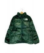 ()の古着「Faux Fur Nuptse Jacket」 グリーン