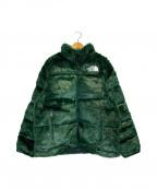 SUPREME×THE NORTH FACE(シュプリーム ×ザノースフェイス)の古着「Faux Fur Nuptse Jacket」|グリーン