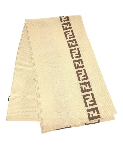 FENDI(フェンディ)FENDI (フェンディ) ズッカ柄マフラー ブラウン 未使用品の古着・服飾アイテム