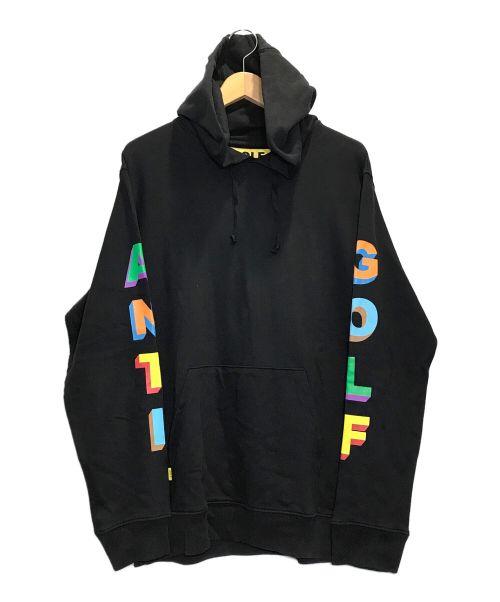GOLF WANG(ゴルフワン)GOLF WANG (ゴルフワン) 3Dロゴスウェットプルオーバーパーカー ブラック サイズ:Mの古着・服飾アイテム
