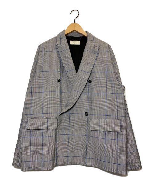 jieda(ジエダ)jieda (ジエダ) DOUBLE TAILORED JACKET グレー サイズ:2の古着・服飾アイテム