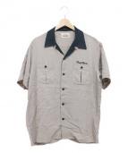 RUDE GALLERY BLACK REBEL(ルードギャラリーブラックレーベル)の古着「ボーリングシャツ」 ベージュ