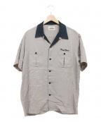 RUDE GALLERY BLACK REBEL(ルードギャラリー ブラックレーベル)の古着「ボーリングシャツ」 ベージュ