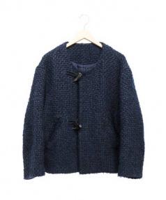Edwina Horl(エドウィナホール)の古着「オーバーサイズドグルハーフコート」|ネイビー