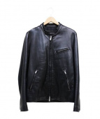 LITHIUM HOMME(リチウム オム)の古着「カウレザーライダースジャケット」|ブラック