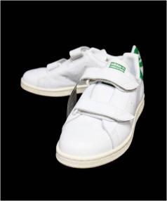adidas originals(アディダスオリジナル)の古着「FAST ベルクロ スタンスミス」 ホワイト×グリーン