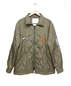 White Mountaineering(ホワイトマウンテニアリング)の古着「刺繍キルティングジャケット」 カーキ