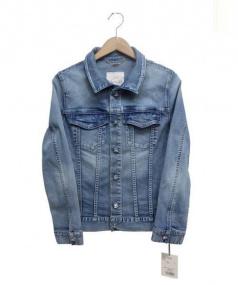 Rady(レディ)の古着「ビジューボタンデニムジャケット」 ブルー