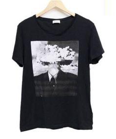 SAINT LAURENT PARIS(サンローラン パリ)の古着「Tシャツ」|ブラック
