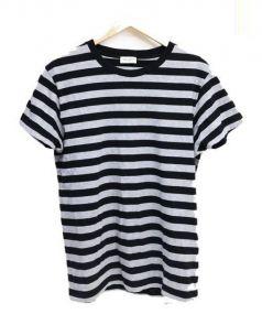 SAINT LAURENT PARIS(サンローラン パリ)の古着「ボーダーTシャツ」|グレー×ブラック