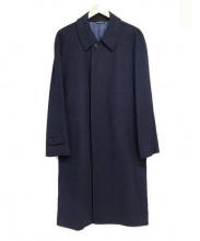 DURBAN(ダーバン)の古着「カシミヤ混チェスターコート」|ネイビー