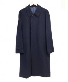DURBAN(ダーバン)の古着「カシミヤ混チェスターコート」 ネイビー