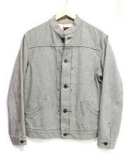BRU NA BOINNE(ブルーナボイン)の古着「スタンドカラーデニムジャケット」|グレー