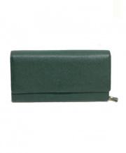 土屋鞄(ツチヤカバン)の古着「長財布」 グリーン
