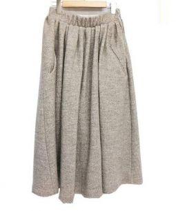Acne(アクネ)の古着「ウールスカート」|ベージュ
