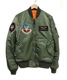 ALPHA(アルファ)の古着「MA-1ワッペンフライトジャケット」|オリーブ