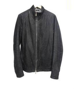 dieciseizerootto(ディエイチセイゼロオット)の古着「ジップアップレザージャケット」|ブラック