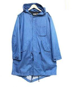 H.R.REMAKE(エイチアールリメイク)の古着「ライナー付フーデッドコート」|ネイビー