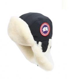 CANADA GOOSE(カナダグース)の古着「PILOT HAT」|ブラック
