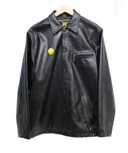 GOLDEN DRAGON GAIJIN MADE(ゴールデンドラゴン ガイジン メイド)の古着「レザーコーチジャケット」|ブラック