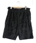 Needles Sportswear(ニードルズスポーツウェア)の古着「フリースハーフパンツ」|ブラック