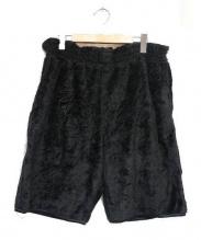 Needles Sportswear(ニードルズ スポーツウェアー)の古着「フリースハーフパンツ」|ブラック