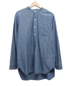 gold(ゴールド)の古着「CHAMBRAY BAND COLLAR PULLOVERS」|ブルー