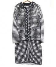 SONIA RYKIEL(ソニア リキエル)の古着「セットアップニット」|ブラック×ホワイト