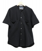 KIIT(キート)の古着「ノーカラーシャツ」|ブラック