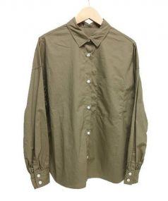 Adam et Rope(アダム エ ロペ)の古着「ワイドシャツ」|カーキ