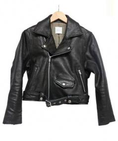 Ameri VINTAGE(アメリ ヴィンテージ)の古着「SCOTTISH CHIBI RIDERS JK」|ブラック
