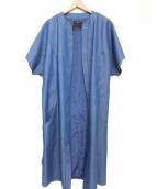 C/MEO COLLECTIVE(カメオコレクティブ)の古着「ノーカラーロングジャケット」|インディゴ