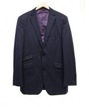 BURBERRY BLACK LABEL(バーバリーブラックレーベル)の古着「セットアップスーツ」|ネイビー×パープル
