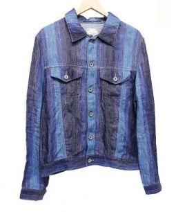TOMORROW LAND(トゥモローランド)の古着「リネングラデーションジャケット」|ブルー