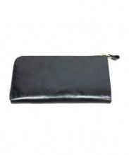 TIDE WAY(タイドウェイ)の古着「迷彩エンボスL字ファスナー長財布」|ブラック