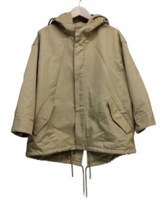 MACPHEE(マカフィー)の古着「コットンナイロンショートモッズコート」|ベージュ