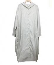 Comme ca Mature(コムサマチュア)の古着「フロントタイフーディシャツコート」 オフホワイト