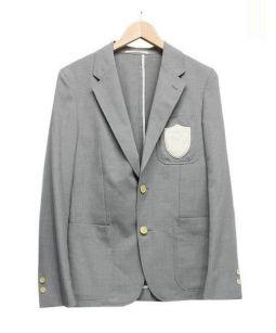 BEAUTY&YOUTH(ビューティアンドユース)の古着「ワッペン付きブレザー」|グレー
