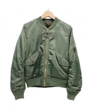 FREAKS STORE(フリークスストア)の古着「裏ボアMA-1ジャケット」|カーキ