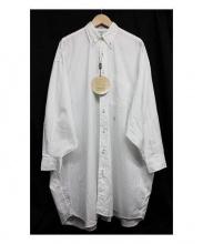 INDIVIDUALIZED SHIRTS(インディビジュアライズドシャツ)の古着「ワイドシャツワンピース」|ホワイト